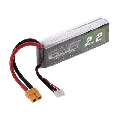 11.1V 2200mAh 30C 3S Rechargeable Li-Po Battery with XT60 Plug for RC Racing Drone Quadcopter Helicopter Airplane Car Truck
