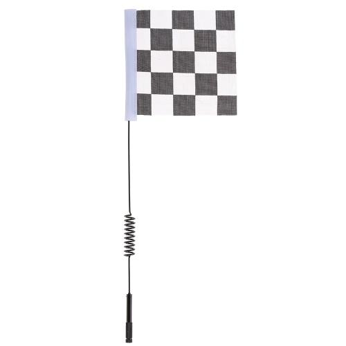 Antenne décorative en métal avec drapeau blanc et noir pour 1:10 Traxxas Hsp Redcat RC4WD Tamiya Axial Scx10 D90 Hpi RC voiture à chenilles