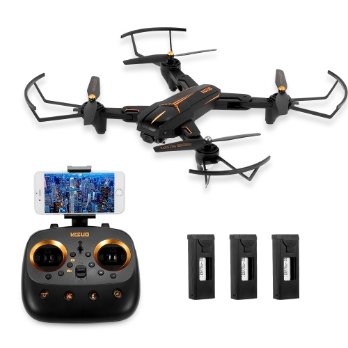 VISUO XS812 1080P 2.4G GPS 5G Wifi RC Drone with 3 Batteries