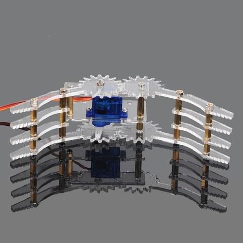 1set Acrylic Robot Arm Clamp Claw Mount Kit with 9G Servo