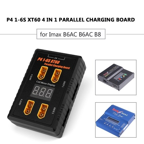 P4 1-6S XT60 4 IN 1 Scheda di ricarica parallela XT60 Scheda adattatore di carica della batteria per Imax B6AC B6AC B8