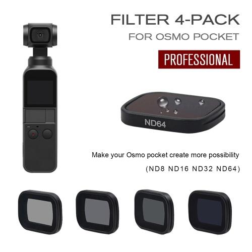 STARTRC Camera Lens ND Filter Set ND8 ND16 ND32 ND64 Neutral Density Fader Filters for DJI OSMO Pocket Camera