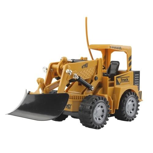 1:24 5CH Remote Control Electric Bulldozer Construction Car Toy