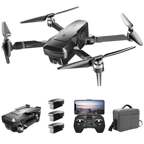 VISUO ZEN K1 5G WIFI FPVGPS Brushless Drone 4K With Dual Camera(3 Batteries and Handbag), TOMTOP  - buy with discount