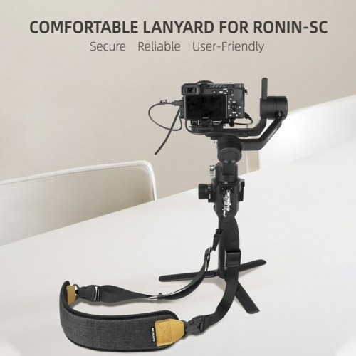 Sunnylife Lanyard Shoulder Strap with Locking Ring Compatible for DJI Ronin-SC
