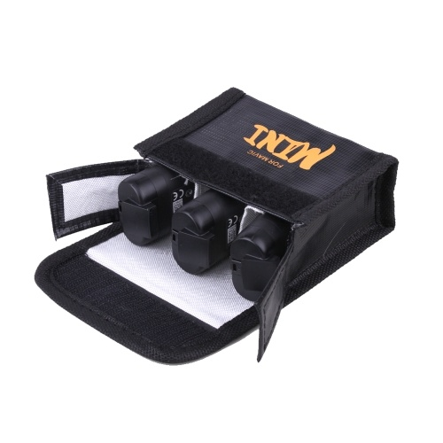 Outdoor Portable LiPo Battery Explosion-proof Safety Storage Bag Compatible with 3PCS DJI Mavic Mini Drone Quadcopter Battery