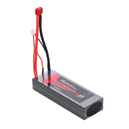 HobbyFans 7.4V 5200mAh Lipo Battery 50C 2S Battery for 1/10 1/8 RC Car Losi Traxxas HPI Axial Tamiya RC Crawler