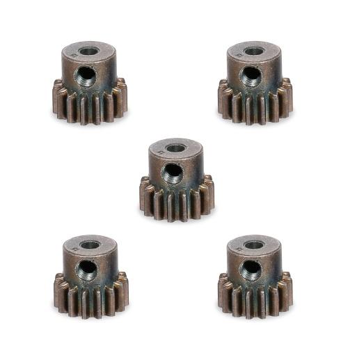 Engranaje de motor de coche RC 45 # Acero 15T 5 piezas de repuesto para 1/10 RC Crawler Car TRX4 RC4WD D90 D110 Axial Scx10 90046