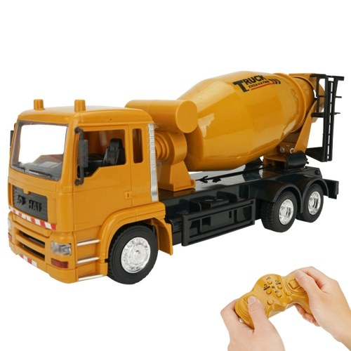 3825 1:24 2.4G 10CH RC Mixer Truck Construction Engineering Vehicles with One Key Demonstration Music Simulation Sound Educational RC Truck Toys Image