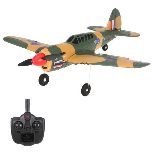 Wltoys XKS A220-P40 4 Channel 2.4Ghz RC Plane Remote Controlled Aircraft Fighter EPP Crash Resistant