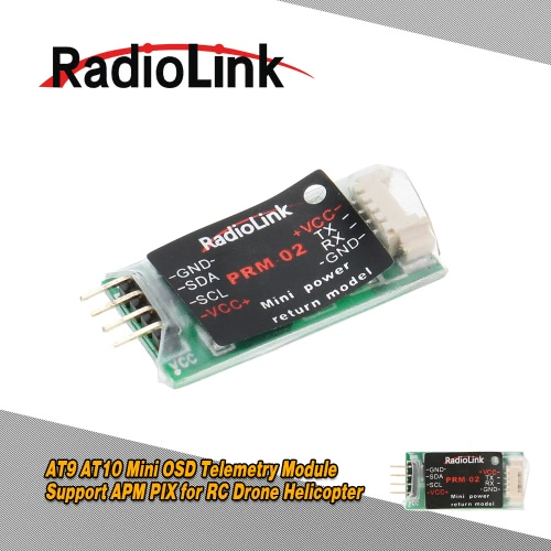 Radiolink AT9 AT10 Mini OSD Telemetry Module Support APM PIX for RC Aircraft