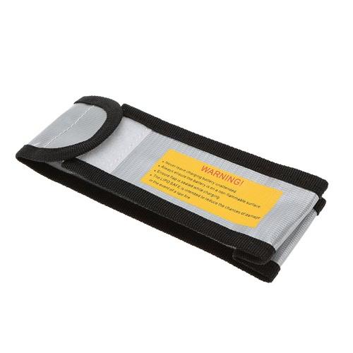 15 * 6.4 * 5cm Argent Haute qualité Verre Fibre RC LiPo Batterie Sac de sécurité Sac de charge sécuritaire