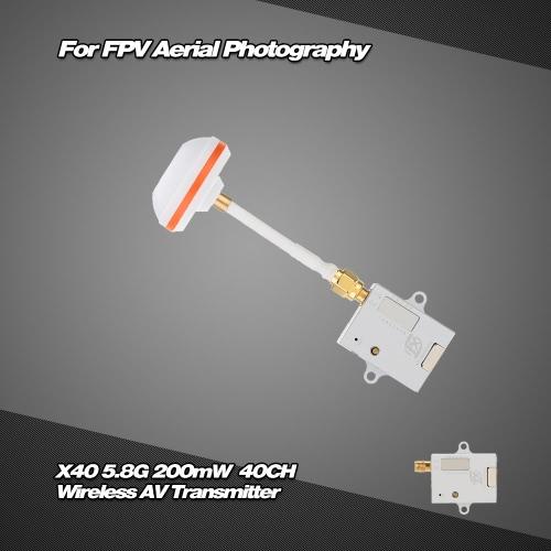 X40-2 5.8G 200mW 40CH 無線 AV伝送器 FPV空中撮影適用