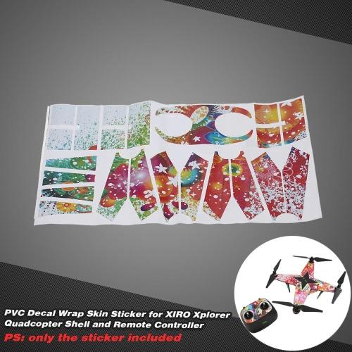 PVC Decal Wrap Skin Sticker for XIRO Xplorer Quadcopter Shell and Remote Controller