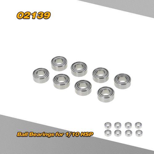 1/10 HSP 4 wd バギー車用 02139 10 * 5 * 4 mm ボール ベアリング