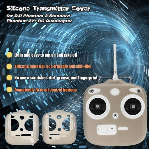 RC Part Gray Silicone Transmitter Cover for DJI Phantom 3 Standard Phantom 2V+ RC Quadcopter