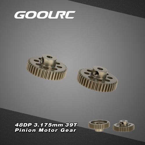 GoolRC 2Pcs 48DP 3.175mm 39T Pinion Motor Gear for RC Car Brushed Brushless Motor