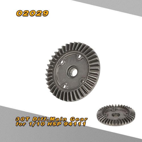 1/10 HSP 94111 オフロード モンスター トラック用 02029 38 (t) Diff.Main ギア