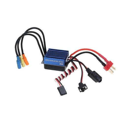 35A sin escobillas Control electrónico de velocidad con 5V / 1A BEC para 1/14 1/16 RC coche
