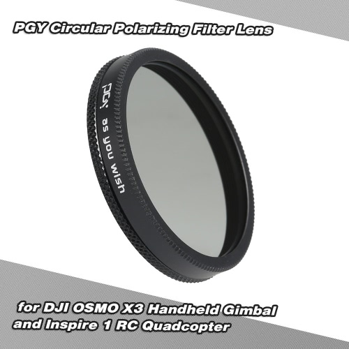 PGY Circular Polarizing Filter Lens for DJI OSMO X3 Handheld Gimbal and Inspire 1 RC Quadcopter