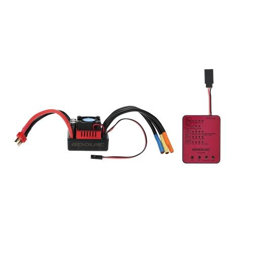 GoolRC S-120A bezszczotkowy ESC z 6.1V / 3A SBEC & programowalna karta do samochodu 1/8 RC