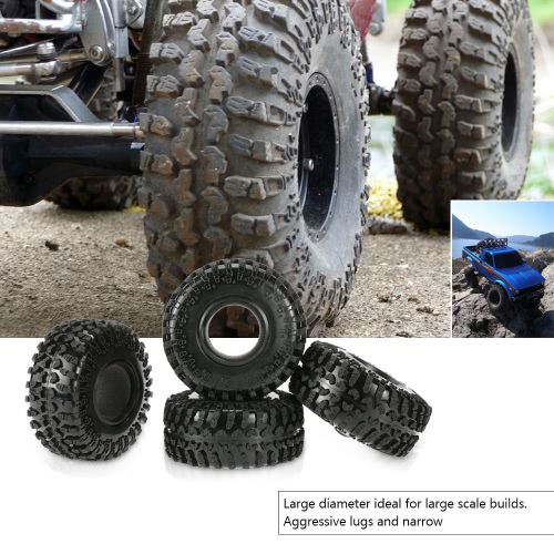 "4Pcs Austar 2.2"" 125mm 1/10 Scale Tires for 1/10 RC4WD D90 Axial SCX10 RC Rock Crawler"