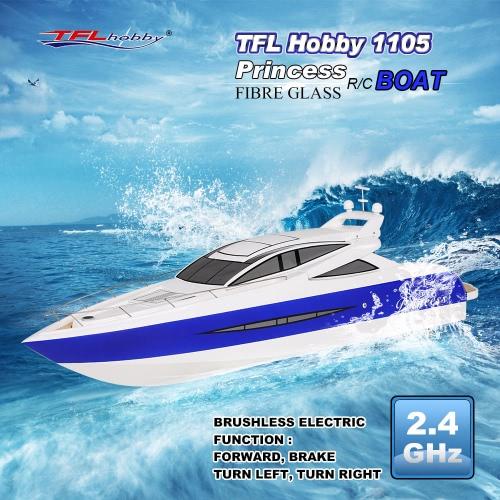 TFL Hobby 1105 Księżniczka 2.4G bezszczotkowy elektryczny Chłodzenie wodą Speedboat włókna szklanego RC Łódź