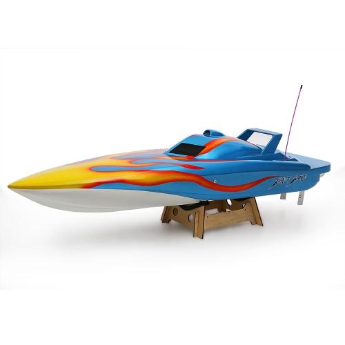 オリジナルVANTEX爆風1300BP(ブルー)FS-GT2 2.4G送信機高速毎時60キロ電動RCレーシングボート