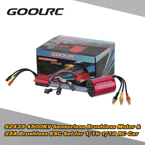 Originale GoolRC S2435 4500KV sensorless motore brushless e 25A Brushless ESC insieme combinato per 1/16 1/18 RC camion dell'automobile