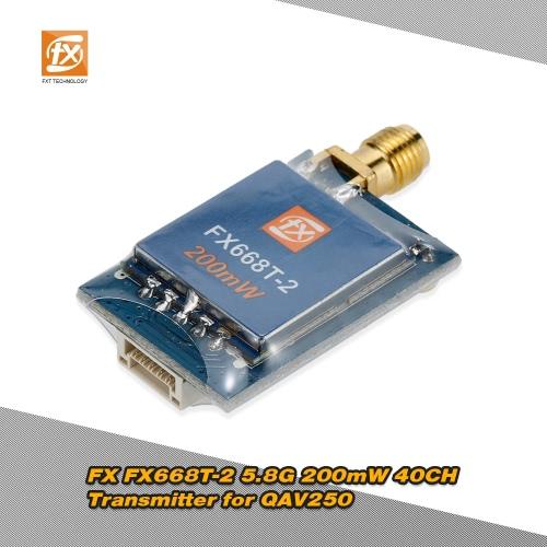 Original FX FX668T-2 5.8G 200mW 40CH Wireless AV Transmitter for QAV250 FPV Racing Quadcopter Drone