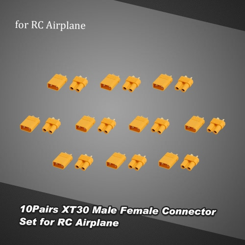 10Pairs XT30 Male Female Connector Set for RC Quadcopter Multicopter Helicopter