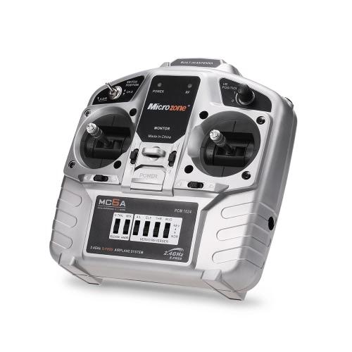 MC6C 2.4G S-FHSS 6CH Modus 2 Sender mit E6-A 6CH Empfänger für RC Starrflügler Quadcopter Multicopter Drone