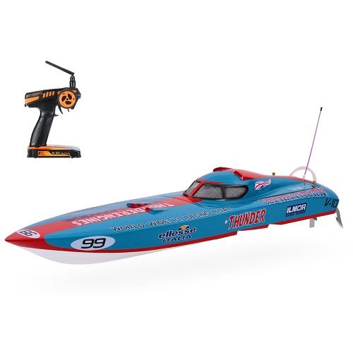 Original VANTEX BL061CP 1350BP (Blue) Thunder FS-GT2 2.4G Transmitter High Speed 60km/h Electric RC Racing Boat