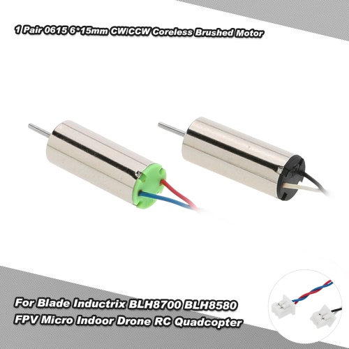 1 Paar 0615 6 * 15mm CW / CCW Coreless Brushed Motor mit Micro-JST-Stecker für 1,25 Klingen Inductrix BLH8700 BLH8580 FPV Micro Indoor Drone RC Quadcopter