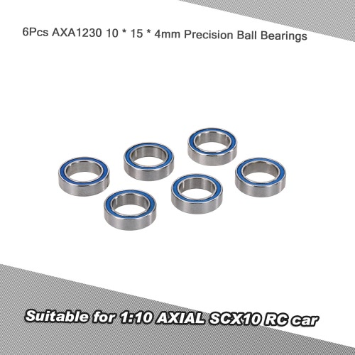 6PCS AXA1230 10 * 15 * 4ミリメートル精密ボールベアリングRCアクセサリー1:10 AXIAL SCX10 RCカー
