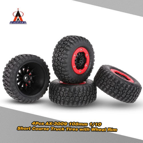 4szt Austar AX-3009 High Performance 108mm 1/10 Short Course Truck Tires z kołem Rim dla Terenowe