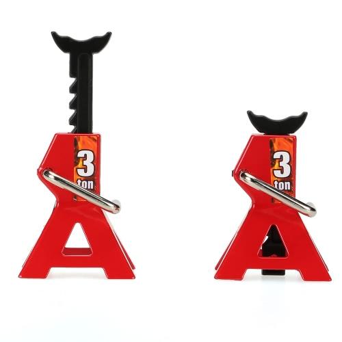 2 pezzi 3 TON scala regolabile Altezza metallo Jack stand che ripara l'utensile per 1/10 Adatto per 1/10 RC4WD D90 SCX10 Rock Crawler RC Auto