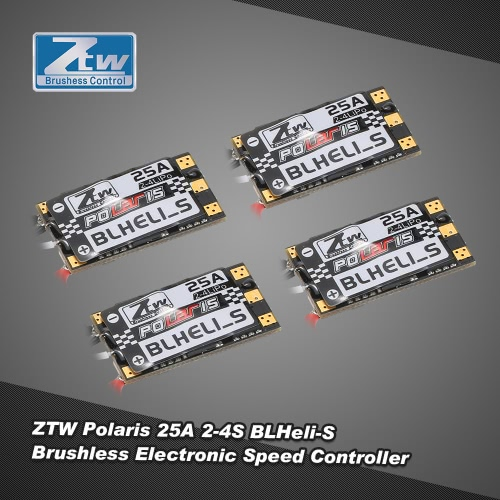 4pcs Original ZTW Polaris 25A 2-4S BLHeli-S  Brushless OPTO ESC Support Oneshot125 Oneshot42 for F330 RC Multi-rotor RC Drone Quadcopter