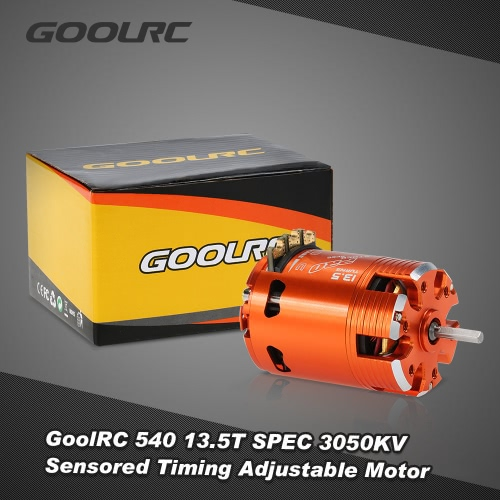 GoolRC 540 13.5T SPEC 3050KV Sensored Brushless Timing Adjustable Motor for 1/10 RC Car