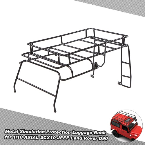 Metal Simulation Protection Luggage Rack for 1/10 AXIAL SCX10 JEEP Land Rover D90 Rock Crawler RC Car