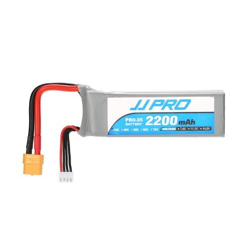 P175 P200 QAV180 200 QAV250 ZMR250 H280 RCクワッドロータードローンのためのオリジナルJJR / C JJPRO 11.1V 2200mAhの30C 3SリポバッテリーXT60プラグ