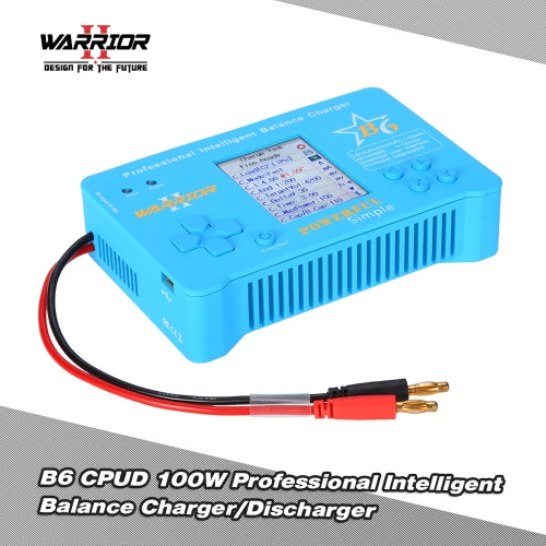 WARRIOR B6 CPUD 100W LiPo Li-ion LiFe NiMH NiCd Pb Battery Professional Intelligent Balance Charger/Discharger for RC Drone Helicopter Car Boat