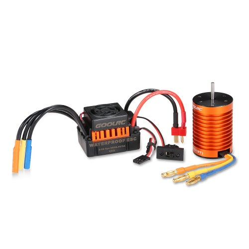 GoolRC Upgrade impermeable F540 4370KV motor sin escobillas con 45A ESC Combo Set para 1/10 RC Car Truck