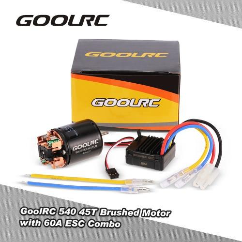 GoolRC 540 45T Brushed Motor with 60A Brushed ESC Combo for 1/10 RC Rock Crawler Climbing Car