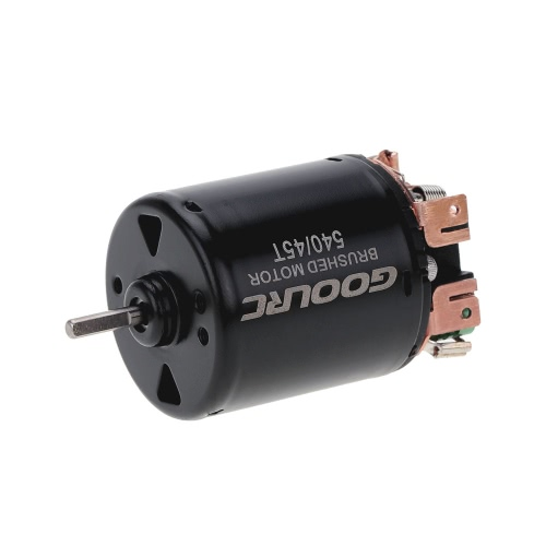 GoolRC 540 45T Brushed Motor with 60A Brushed ESC Combo for 1/10 RC Rock Crawler Climbing Car