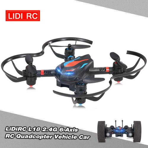 LiDiRC L18 2.4G 6-Axis RC Quadcopter Drone Vehicle Car