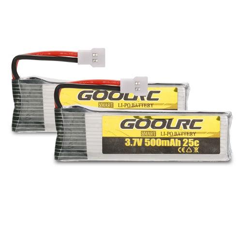 Batería original de 2pcs GoolRC 3.7V 500mAh 25C LiPo para el drone Quadcopter de GoolRC T37 JJR / C H37 RC