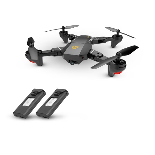 VISUO XS809HW Wifi FPV 0.3MP Camera Foldable Selfie Drone Height Hold RC Quadcopter G-Sensor RTF Extra Battery