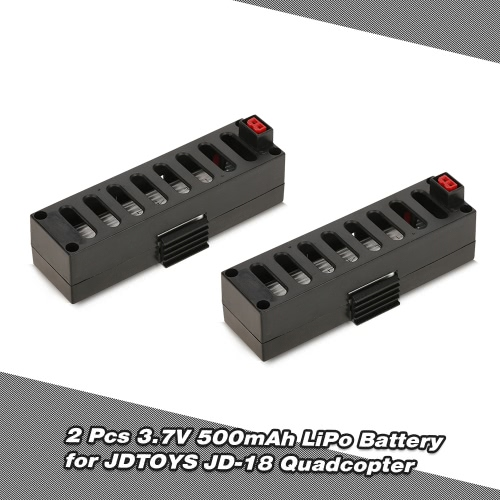 2pcs 3.7V 500mAh LiPo Battery for JDTOYS JD-18 JUN YI TOYS JY018 Wifi FPV Quadcopter