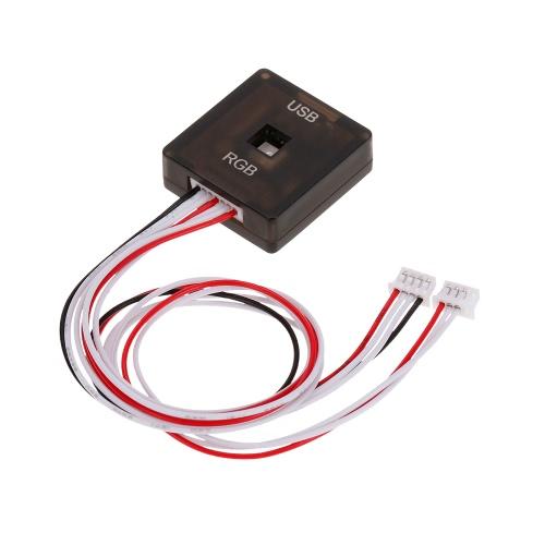 PixWawkフライトコントローラードローンクアドコプターのためのマイクロUSBポートを備えたPIX外部RGB LEDボード